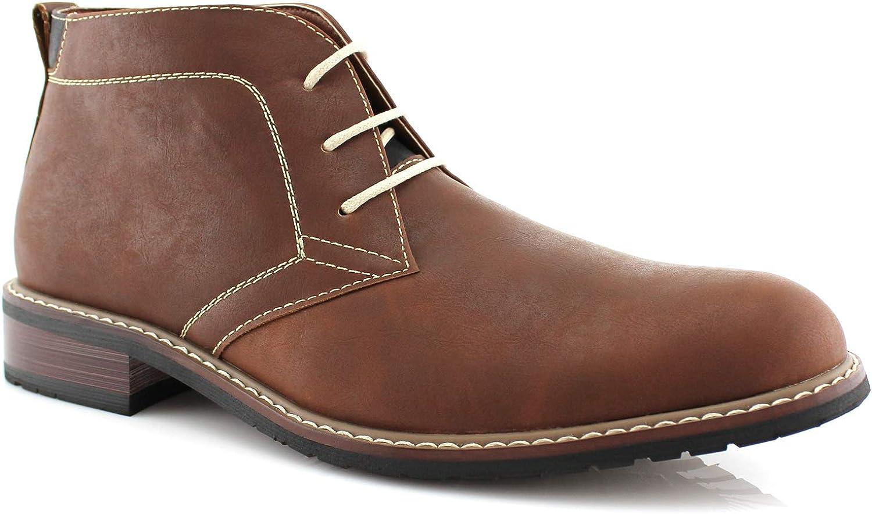 Ferro Aldo MFA-506008 Brown Men's Round Toe Ankle Boots shoes