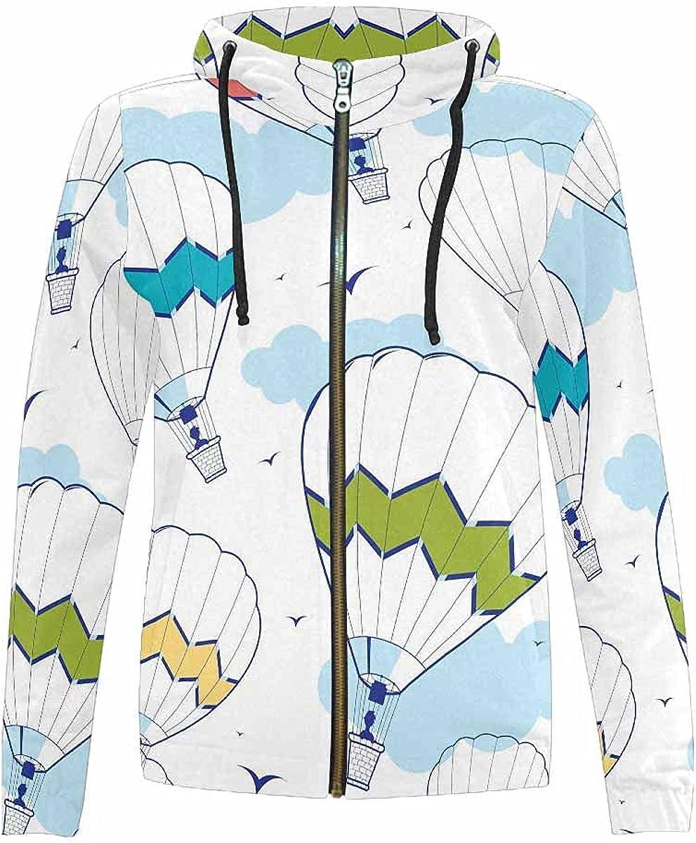 InterestPrint Colorful Fruit Long Sleeve Hooded Sweatshirt for Boys Girls Full Zip Hoodie