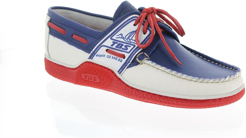 TBS Globek, Blau+Weiß+rot, Glattleder 9802