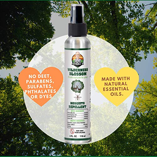 Papa Jonah's Insect Mosquito Repellents (Wilderness Blossom) 4oz DEET Free - Non GMO - All Natural