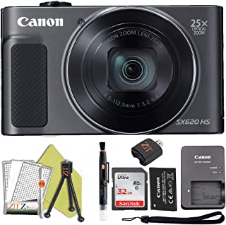 Canon PowerShot SX620 Digital Video Camera Content Creator Kit w/ 25x Optical Zoom, Wi-Fi & NFC Enabled, 32Gb Sandisk Memo...