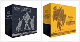 Pokemon Trading Card Game Sun & Moon Burning Shadows Elite Trainer Box and Guardians Rising Elite Trainer Box Bundle, 1 of Each