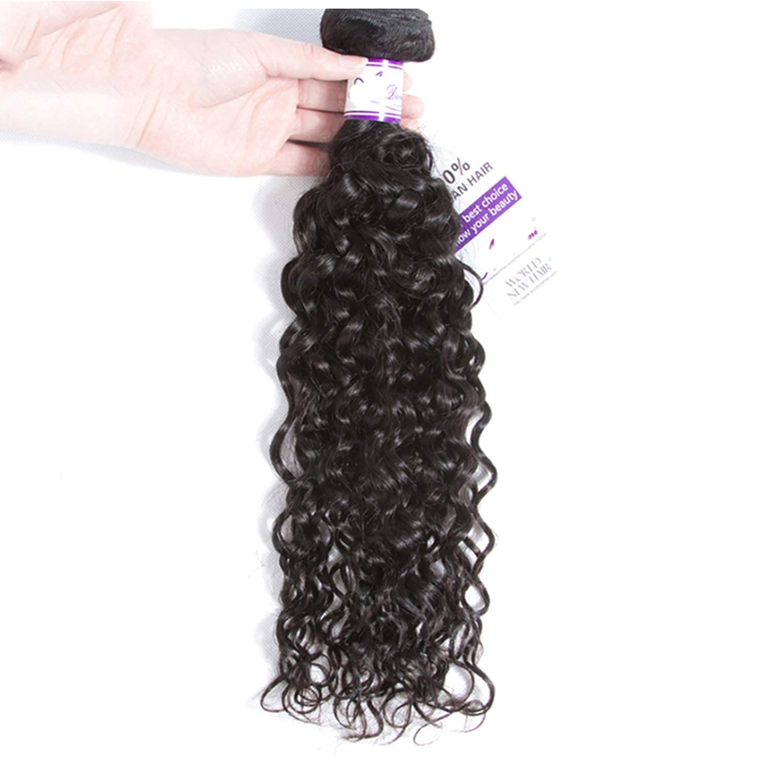 束評価する急いでかつら ペルーの水の波束100%人間の髪の毛の織り方ナチュラルカラー非レミーの毛延長8-28インチ (Stretched Length : 28inches)