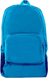 Giftology Unisex Foldable Backpack - Polyester, Blue