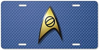 CafePress Vanity Tag Aluminum License Plate Front License Plate STARTREK UFP STONE
