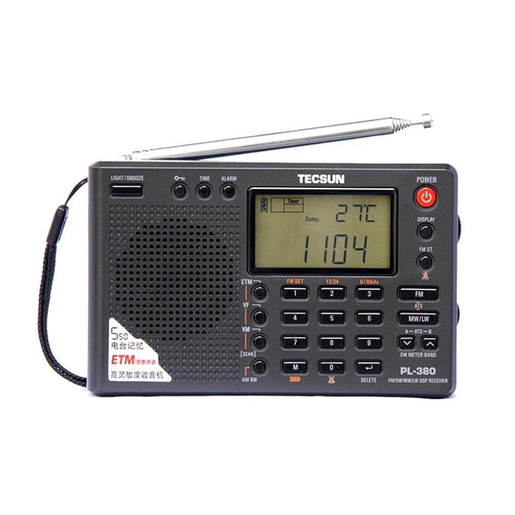 前に小切手山岳ラジオデジタルポータブルラジオFMステレオ/LW/SW/MW DSPレシーバー (Color : Black)