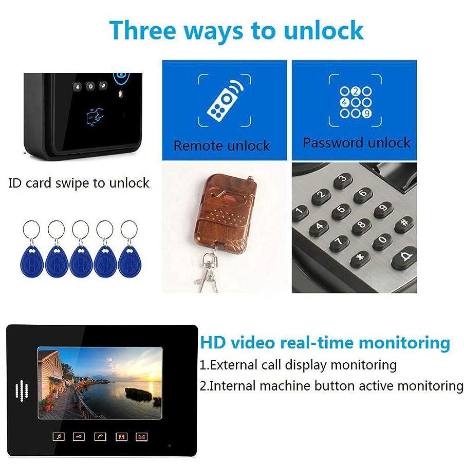 JINPENGPEN 7-Inch Smart Video Doorbell Remote Intercom Access Control System HD Infrared Camera,2/2