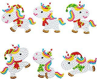 5D DIY Diamond Painting Stickers Kits for Kids Unicorn Diamond Drawing Sparkle Stickers Mosaic Stickers Arts Craft for Boy...