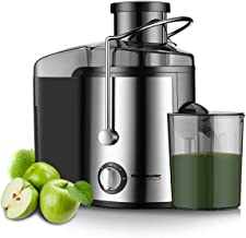 Homeleader Juicer Juice Extractor 3 Speed Centrifugal Juicer with Wide Mouth, for Fruits and Vegetables, BPA-Free
