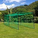 20' Ultimate Baseball Batting Cage [Net & Poles Package] - #42 Heavy Duty Net with Steel Uprights [Net World] 24hr Ship (02. Ultimate Batting Cage & L-Screen)