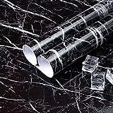 Niviy Marmor Folie Selbstklebende Klebefolie I Küchenfolie I Möbelfolie I Dekofolie für Möbel Küche Wohnzimmer Tisch Feuchtigkeitsbeständig Wasserdicht Ölbeständig 45cm x 200 cm - 6