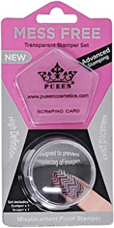 PUEEN 35mm HD Chunky Transparent Soft Stamper and Scraper Set - Nail Art - Stamping Tools - CLEAR - BH000706