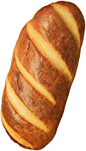 Levenkeness 3D Simulation Bread Shape Plush Pillow,Soft Butter Toast Bread Food Cushion Stuffed Toy for Home Decor 23.6