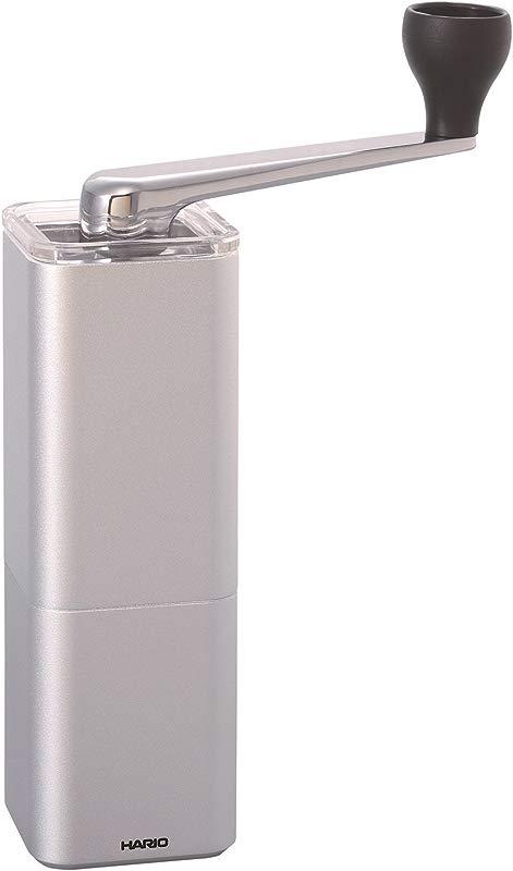 Hario Hario Aluminum Alloy Coffee Grinder Prism Silver MSA 2 SV