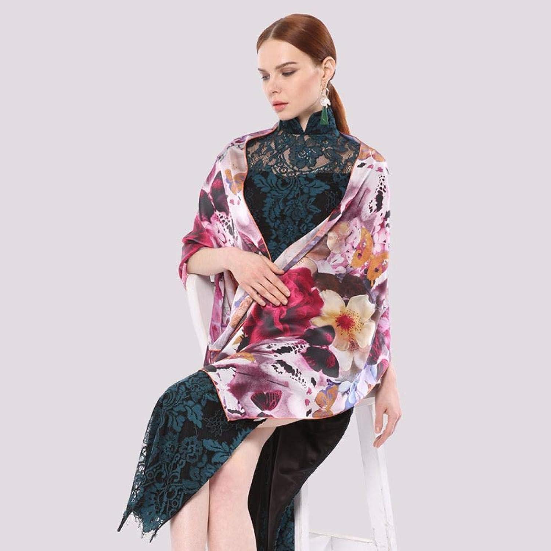 Maerye Lady's Temperament Silk Scarf Cheongsam Shawl Silk Slip Satin Scarf 175  52cm