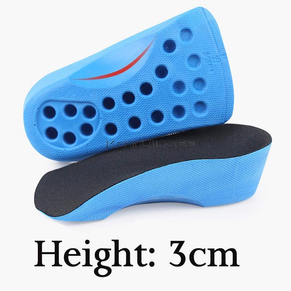 Insole Heel Lift 2//3//4CM Insert Shoe Pad Height Increase Cushion Elevator Unisex