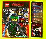 Blue Ocean - The LEGO Ninjago Movie 2017 Sammelalbum + 5 Booster Packungen Sammelsticker 25 Sticker - Deutsche Ausgabe -