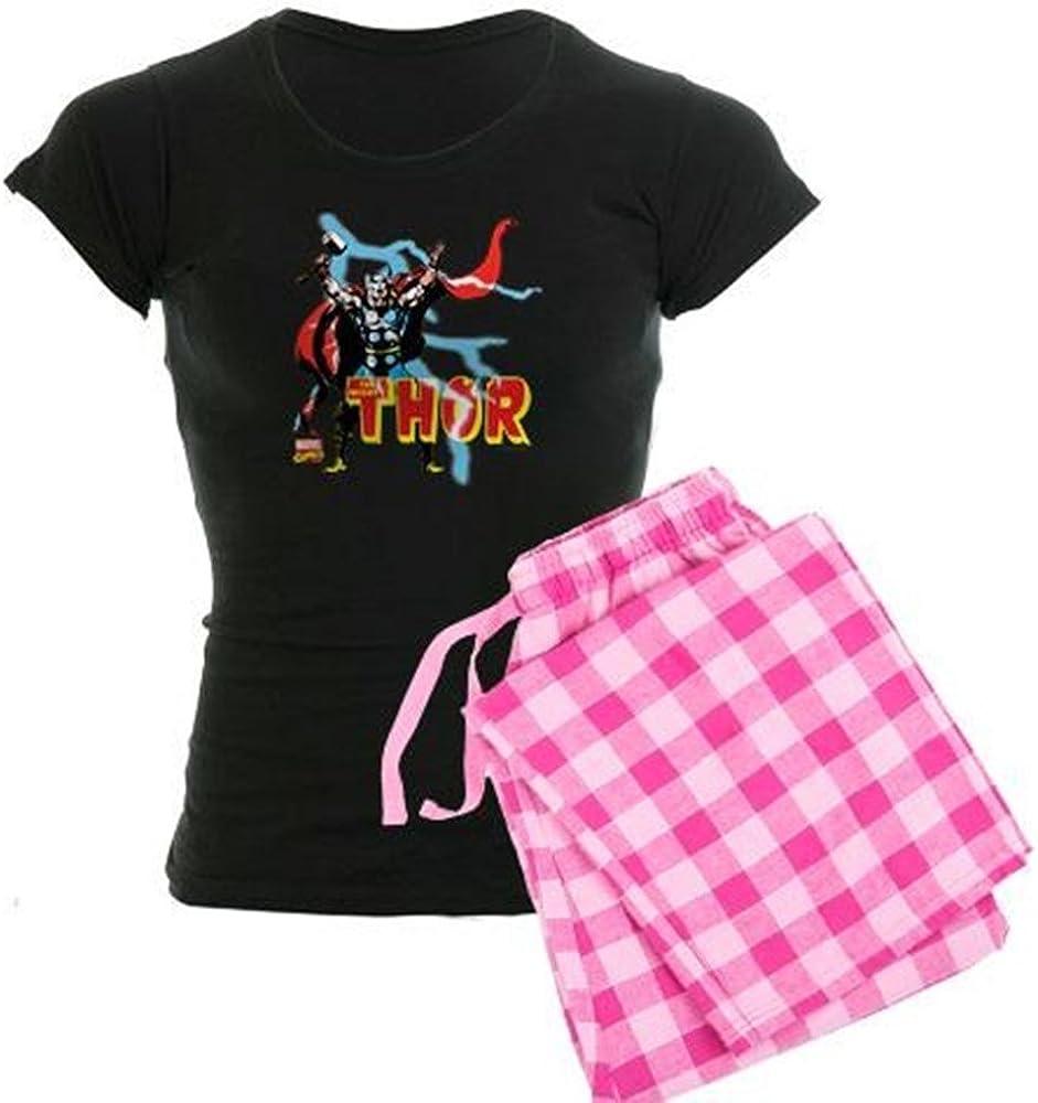 CafePress Max 70% OFF Thor Award-winning store Lightning Women's Pajamas PJs Dark