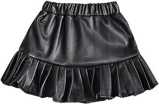 キッズ レザースカート 韓国子供服 プリーツスカート ミニスカート ジュニア 子供服 キッズ用 ボトムス ミニスカート フレアースカート