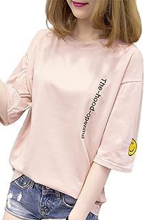 Heaven Days(ヘブンデイズ) Tシャツ 五分袖 カットソー ロゴ ワッペン レディース 1804C0761