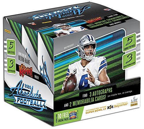 2020 Panini Absolute NFL Football HOBBY box (15 cards/bx)