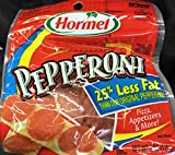 Hormel 25% Less Fat Pepperoni Slices 6 oz. Pack of 2