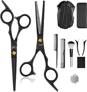 Professional Hair Cutting Scissors/Shears Set, Hairdressing Shears A Razor Stainless Steel Cutting Scissors Tight Screw with Micro Adjuster Hairdressing Scissors Kit for Family