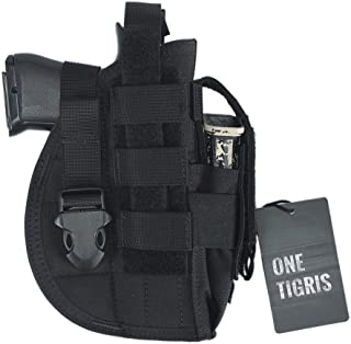 OneTigris Pistol Holster with Mag Pouch, Tactical Molle Belt Holster for Right Handed Shooters Fits Glock 1911 45 92 96 New Design Version