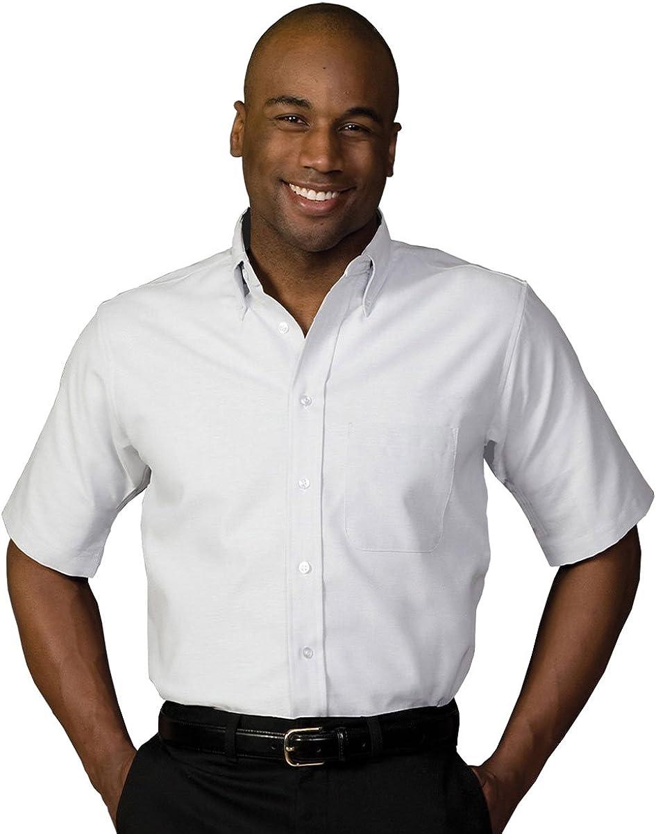 Edwards Garment Men's Big and Tall Short Sleeve Oxford Shirt
