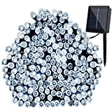 GDEALER Solar String Lights 72ft 200 LED 2 Modes White Solar Powered Waterproof Starry Fairy Ou…