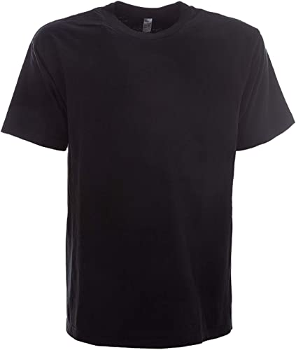 LOS ANGELES APPAREL Homme LAC1801noir Noir Coton T-Shirt