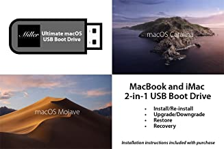 macOS 2-in-1 Combo Drive - 10.15 macOS Catalina and 10.14 macOS Mojave - Full Install, Upgrade, Recovery, Reinstall - Bootable USB Drive