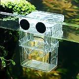 SENZEAL Aquarium Pondoir En Plastique Boîte D'élevage De Poisson Flottant Isolation Hatchery Box avec 3pcs Pasteur Pipette pour Aquarium Réservoir Grand