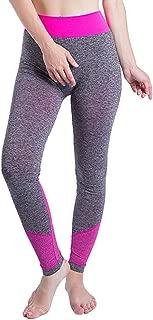 JOFOW Women's Leggings,Color Block Patchwork Solid Skinny High Waist Elastic Tunic Sport Jogger Trousers Yoga Pants for Women