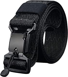 Tactical Belt, Nylon Webbing Belt, Magnetic Quick-Release Buckle Military Belt