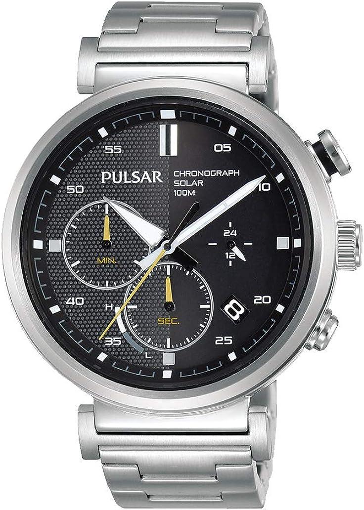 Pulsar Reloj Analógico para Hombre de Cuarzo con Correa en Acero Inoxidable PZ5069X1