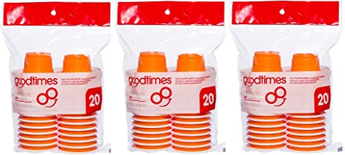Goodtimes 2oz Mini Party Cups (3 packs of 20 cups) Perfect Size For Liquor Shots, Jello Shots, Halloween Parties, Serving ...