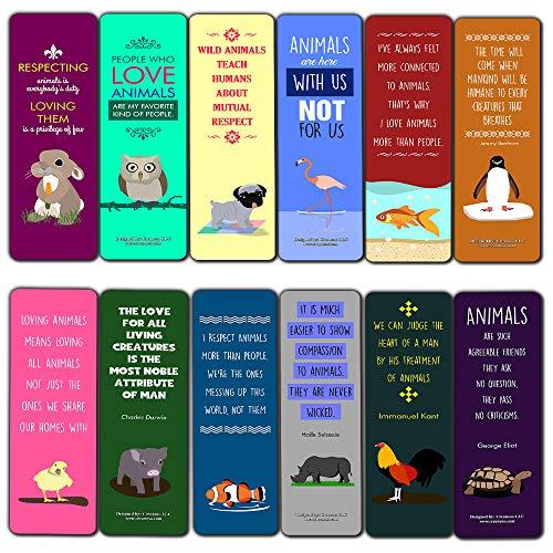 Citações inspiradoras para marcadores de livro de artistas (pacote com 30) Natureza e Selvagem, Animals Bookmarks (30-pack), (30-Pack)