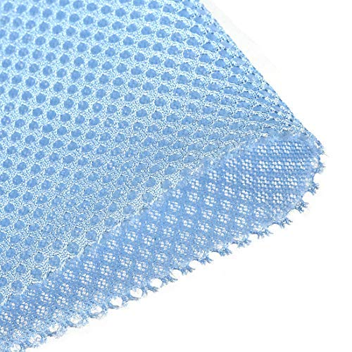 DealMux Sky Blue Speaker Mesh Grill Cloth Stereo Box Fabric Tessuto antipolvere Audio 100 cm x 160 cm 40 pollici x 63 pollici