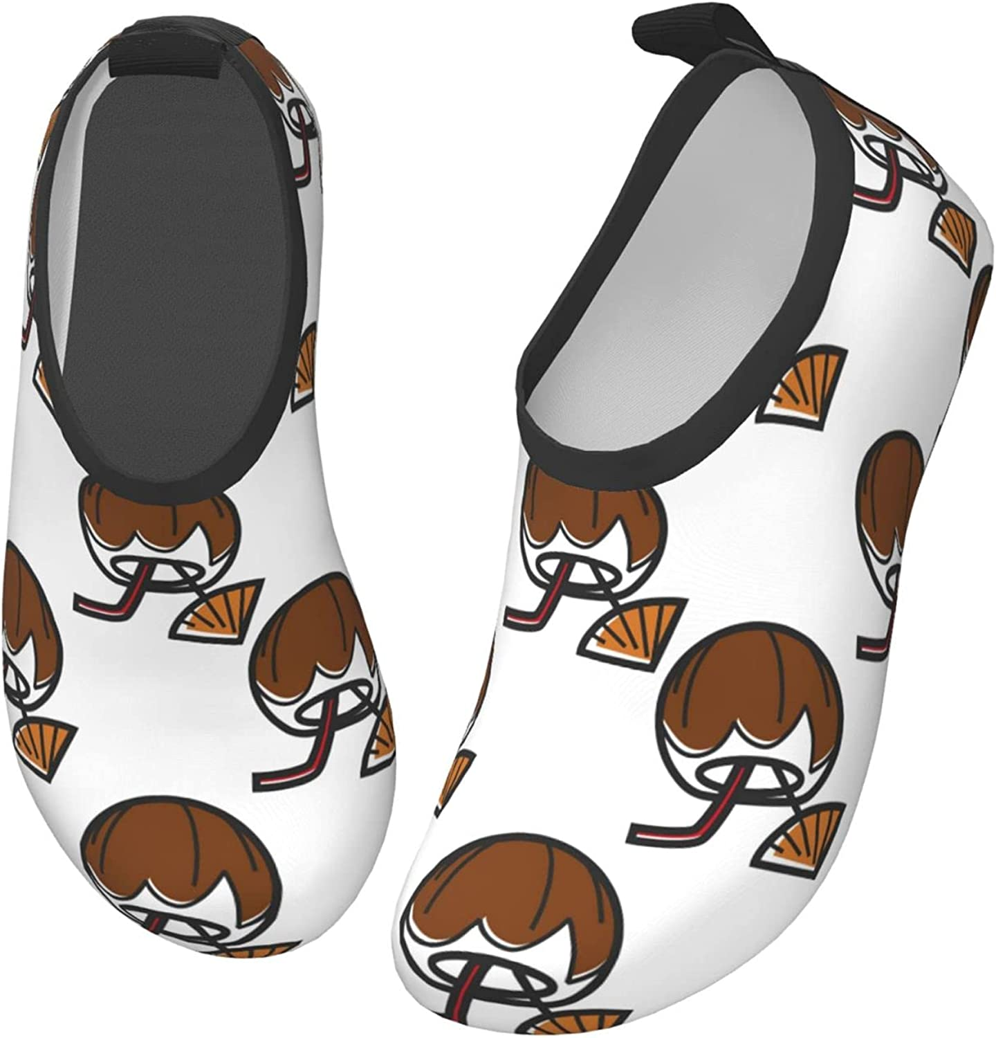 Jedenkuku Summer Style Coconut Hawaii Children's Water Shoes Feel Barefoot for Swimming Beach Boating Surfing Yoga