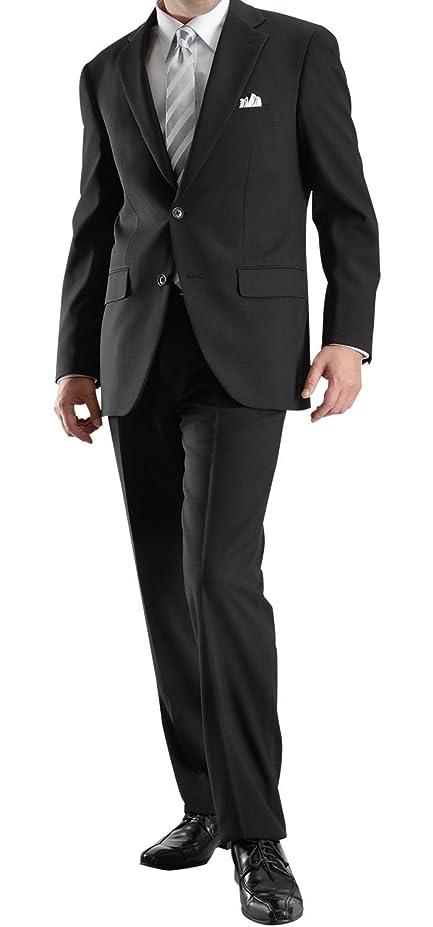 予見するラフレシアアルノルディ空白フォーマルスーツ 2ツボタン シングル メンズ ブラックスーツ ウエスト調整アジャスター付 礼服 喪服 セレモニースーツ 冠婚葬祭 洗えるパンツウォッシャブル FORMAL10