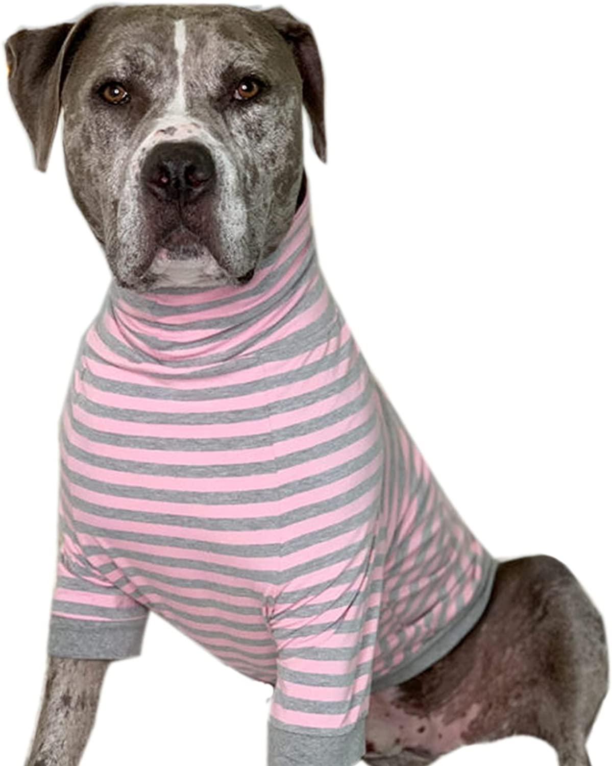Tooth Honey Big Dog Stripe Beauty products Belly 2021 Coverage Pullover Full Shirt