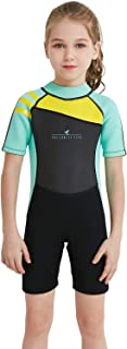 Kids Wetsuit, 2mm Neoprene Thermal Swimsuit, Youth Boy's and Girl's One Piece Wet Suits for Scuba Diving, Full Suit and Shorty Swimsuit