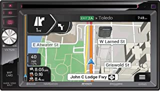 Jensen VX7528 Multimedia Navigation DVD In-Dash Receiver, 6.2 Motorized Retractable LCD Touchscreen Display, 50Wx4 Channels Peak Power, AM/FM Tuner with 18FM/12AM Presets, Remote Control Included