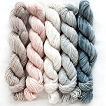 Manos Del Uruguay Silk Blend Fino Mini-Skein Set 3 Clarissa, 5 x 20g, Merino Silk Hand Dyed Yarn