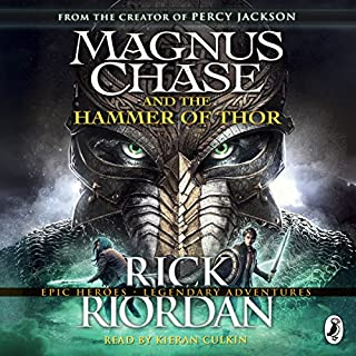 Magnus Chase and the Hammer of Thor                   By:                                                                                                                                 Rick Riordan                               Narrated by:                                                                                                                                 Kieran Culkin                      Length: 10 hrs and 30 mins     100 ratings     Overall 4.7