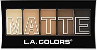 L.A. Colors 5 Color Matte Eyeshadow, Brown Tweed, 0.08 Ounce