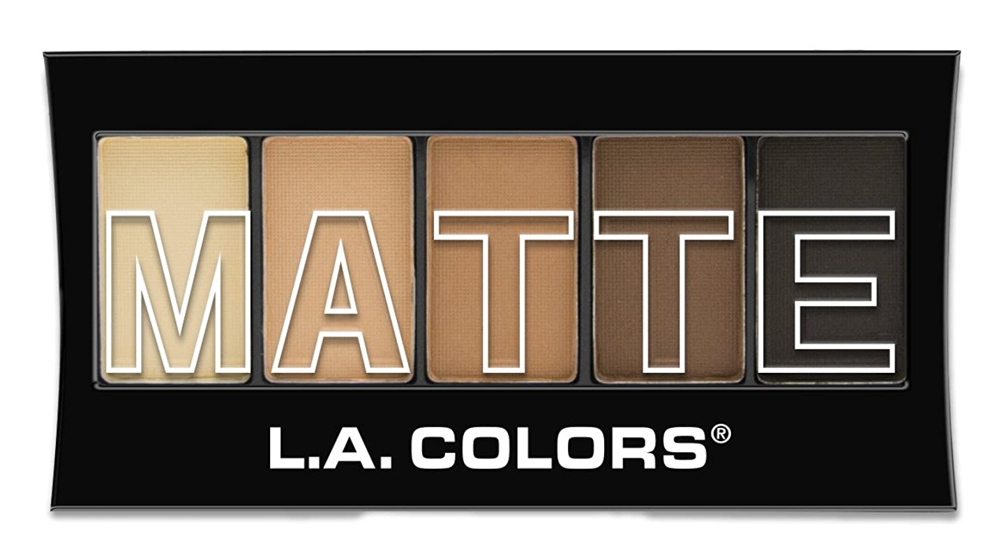 矩形引数鮫L.A. Colors Matte Eyeshadow Brown Tweed (並行輸入品)