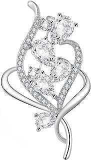 Broschen für Frauen, Brosche Pins für Bräute Vintage Crystal Brosche Bouquet Mädchen Perle Brosche für Hochzeit, Party