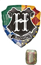 Harry Potter Hogwarts Balloon Bundle for Birthday and Party Decorations (27 Inch Shield w/Ribbon)
